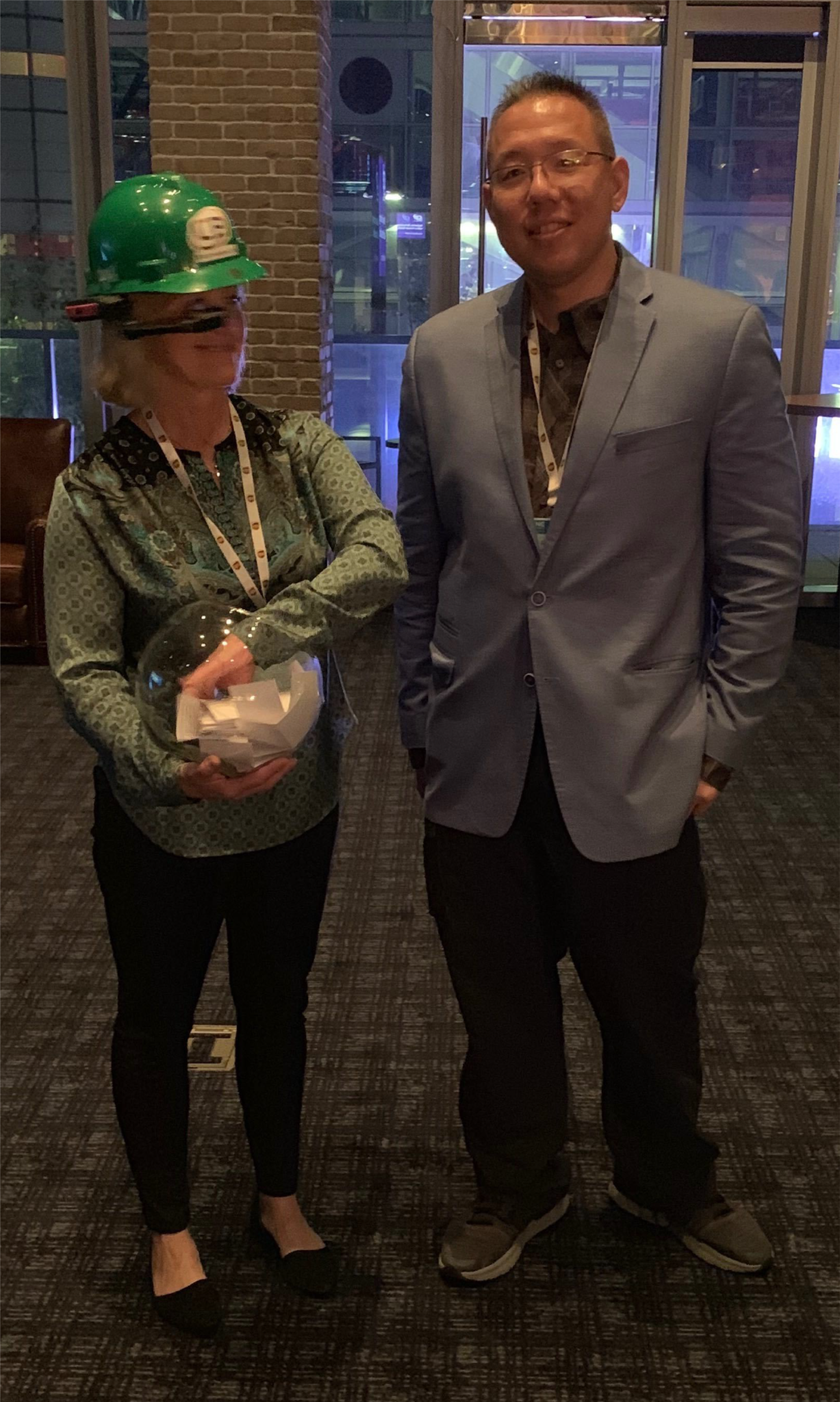 CB Technologies demonstrating RealWear's HMT-1 augmented reality headset