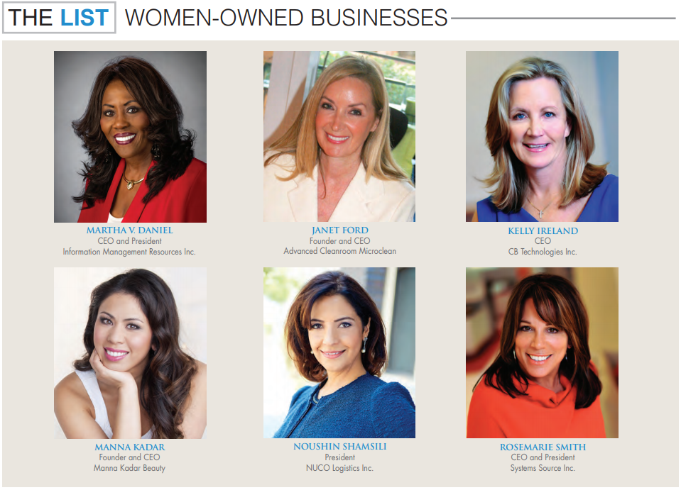 OCBJ Top Women Owned Businesses