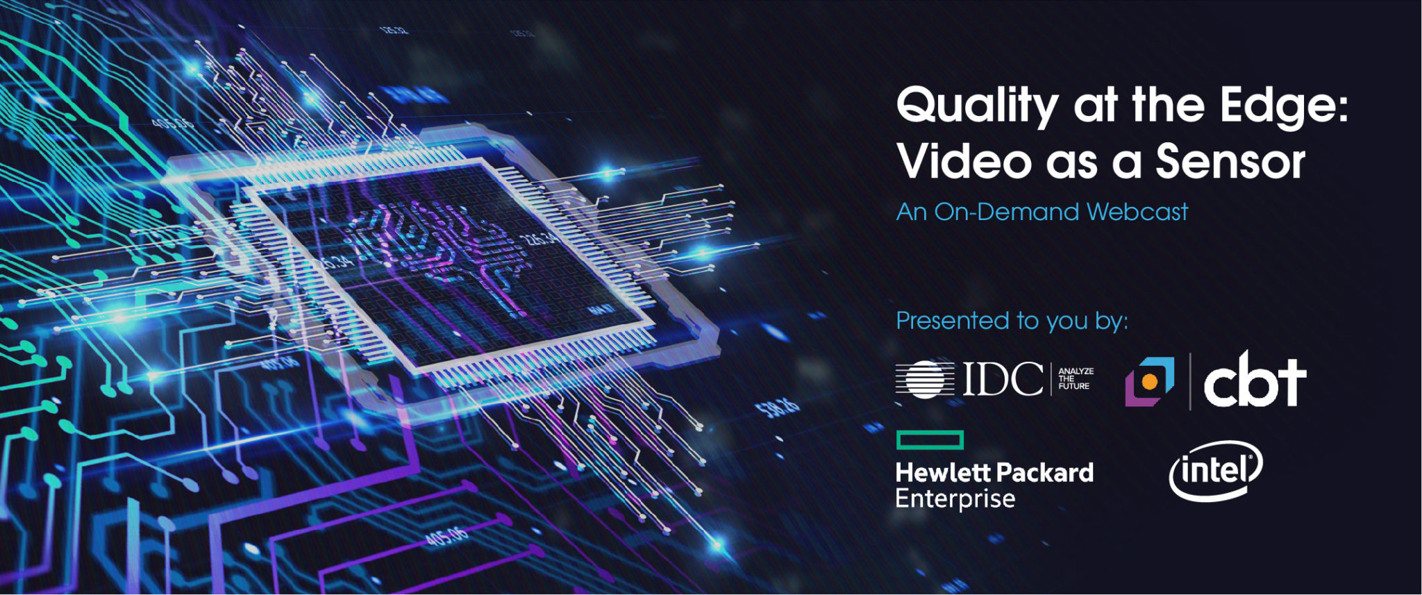 Video as a Sensor Webcast, HPE, Intel, IDC, Edge