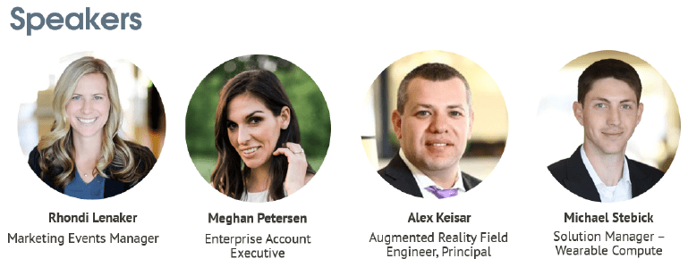 Empowering Frontline Workers with Augmented Reality Webinar Speakers