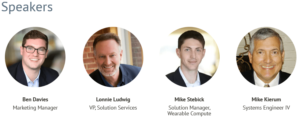Connected Worker, Webinar, Maximizing Resources with Remote Solutions, IIoT, Speakers